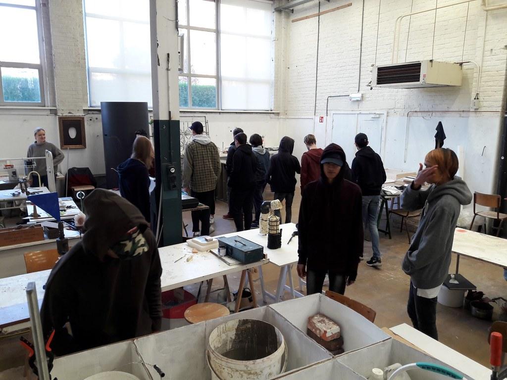 sessie 2 ateliersDKO schilderen met tape (1)
