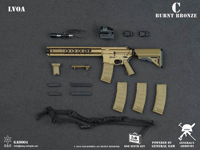 General/'s Armoury GA0004B 1//6 Scale LVOA Rifle set