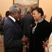 Commonwealth Secretary-General elect Patricia Scotland speaking with former UN Secretary General Kofi Annan