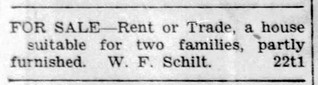 1931 - Schilt house for sale - Enquirer - 28 May 1931 | by historic.bremen