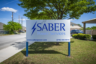 Saber Power-brushed dibond-1 | by Signs of San Antonio