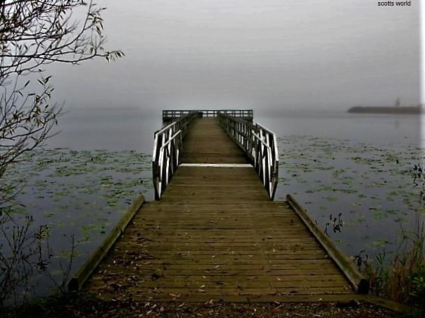A fall day at the lake