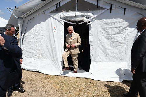 The Prince of Wales tours field medical facility (3) | by barbadosgovernmentinformationservice