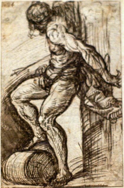 Tizian, Studie für den hl. Sebastian - Study for St. Sebastian - Studio per il San Sebastiano