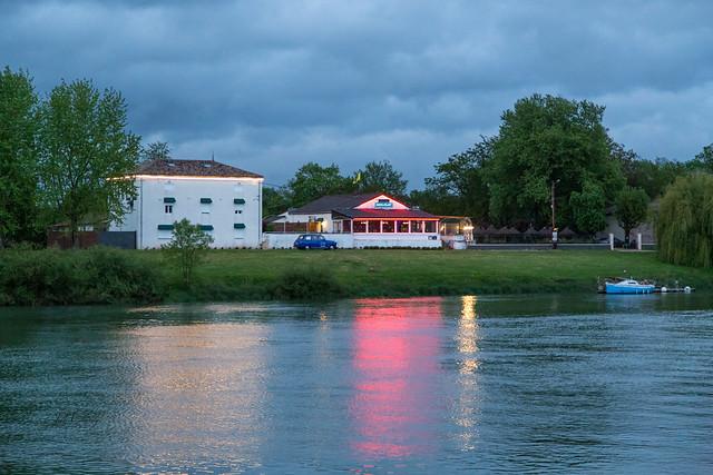 Evening on the Saône River Near Tournus, France