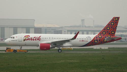 Batik Air Indonesia , D-AXAX, Reg. PK-LZJ, MSN 8748, Airbus A 320-214 SL, 05.04.2019,  XFW-EDHI, Hamburg Finkenwerder | by henryk.konrad