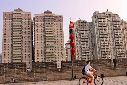 Biker in Xi'an | by Jane Erwitt