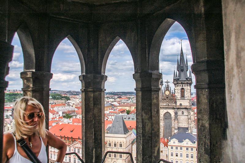 布拉格天文鐘鐘樓頂展望