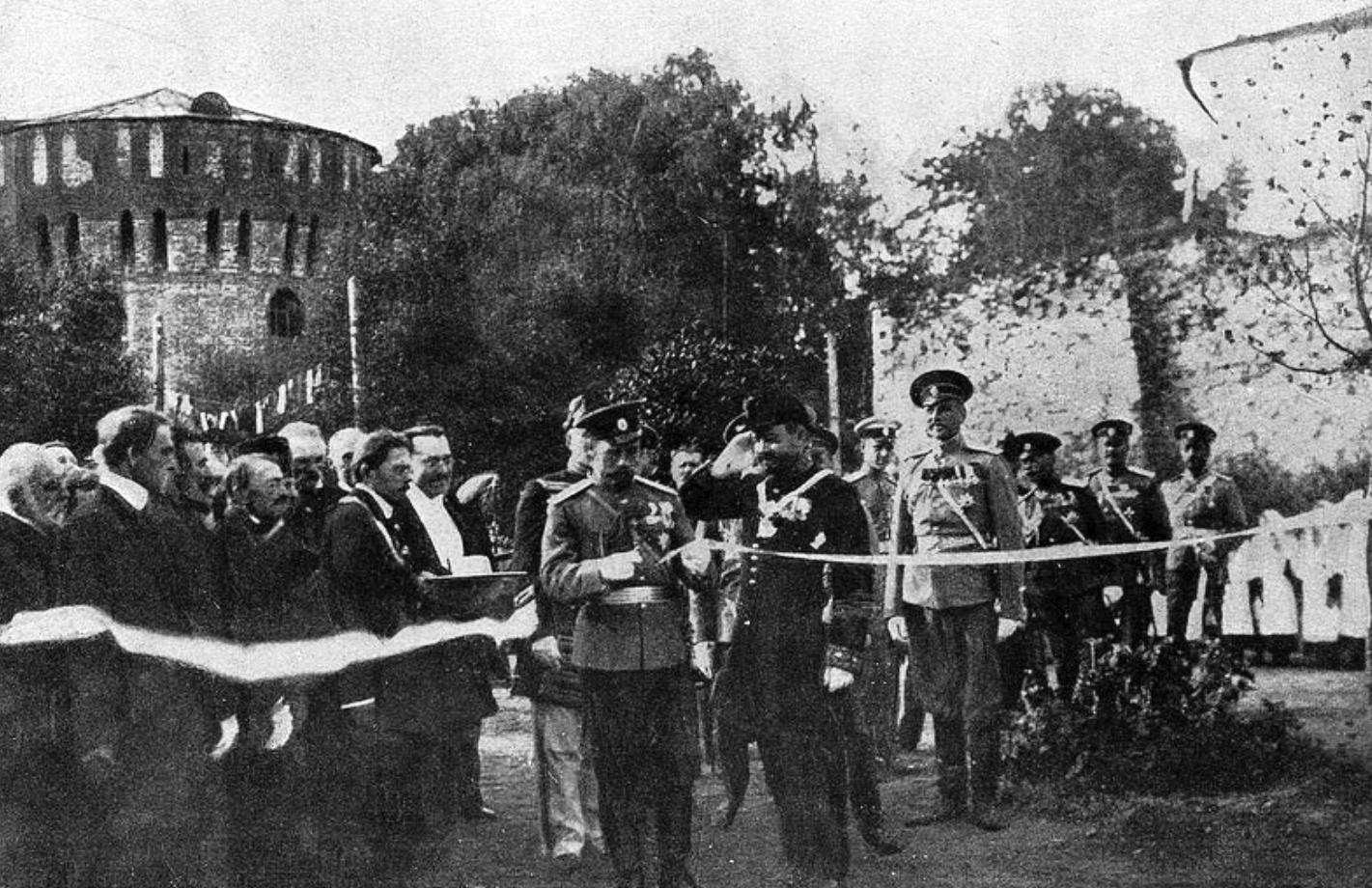 1912. Открытие Государем Императором Николаем II Бульвара 1812 года в Смоленске. 31 августа