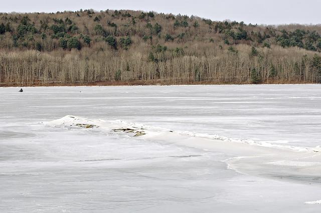 Boat Launch In Winter
