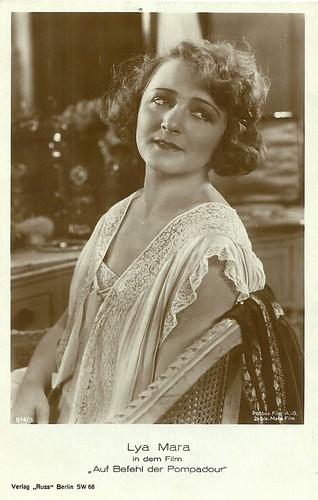 Lya Mara in Auf Befehl der Pompadour (1924)