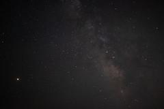 Night Sky - Mars and the Milky Way - Palisade, Colorado