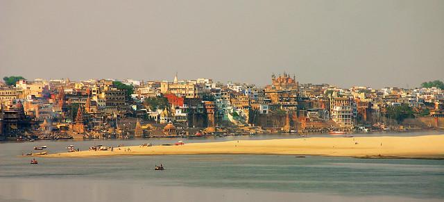 Les ghats de Varanasi et le gange