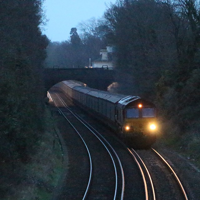66198 with diverted 6O46 at Netley 15/3/19