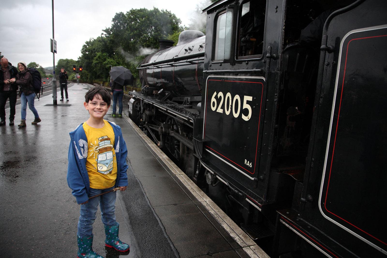 Jacobite steamtrain locomotive