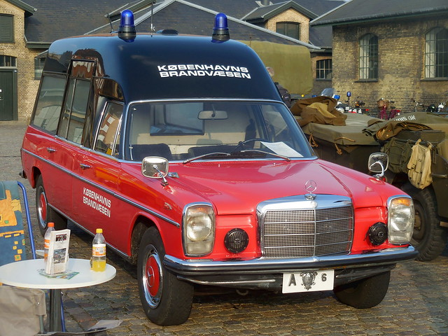 Preserved Copenhagen Fire department ambulance Mercedes Bonna A6