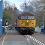 Engine on the swingbridge at Preston Docks
