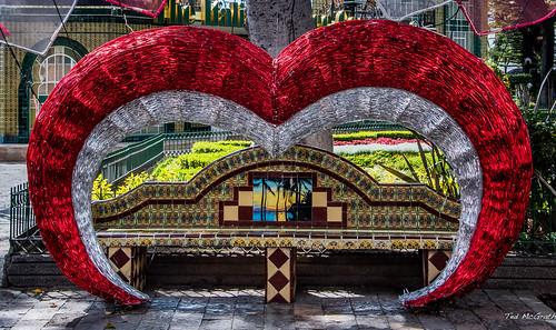 2018 - Mexico - Atlixco - Zocalo Love Bench