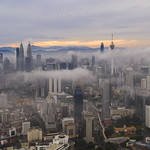 An Aerial of Kuala Lumpur During Sunrise