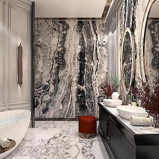 Our never-ending fascination with natural marble and mosaics just got a little stronger. l Design by @constantinfrolovdesign #handmade #tile #marble #art . . . #interiordecor #homedecor #interiordesign #homeinteriors #interiordesigners #instadecor #in | by mosaics.lab
