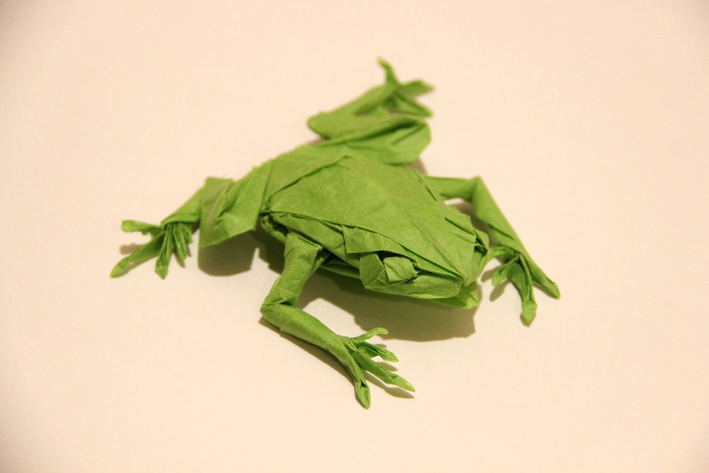 Origami: Origami Jumping Frog Tutorial Origami Jumping Frog ... | 683x1024