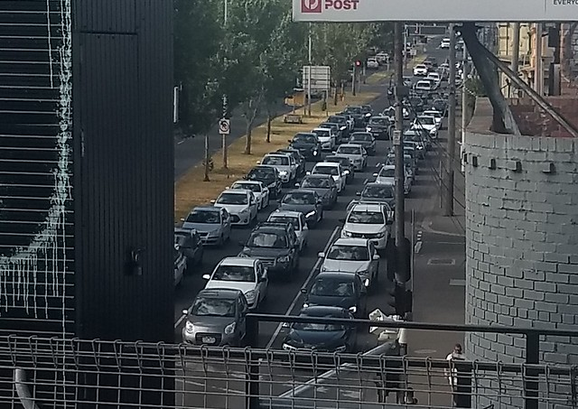 Punt Road traffic during evening peak