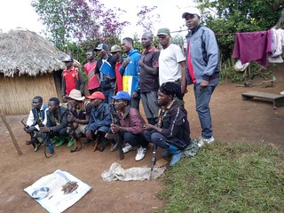 Kalehe, South Kivu, DR Congo – Thirteen Raiya Mutomboki fighters and their leader, self-proclaimed colonel Safari Ngorongo from Chaminunu village, in Kalehe territory, surrendered on March 26, 2019 with 6 weapons (AK-47) and 95 ammunition to MONUSCO. | by MONUSCO