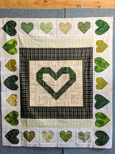 Putting together heart blocks for the families who lost loved ones in Christchurch. Tasmanian Modern Quilt Guild's contributions. | by Snuva