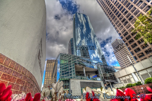 losangeles skyscraper california wilshiregrand sky clouds urban cityscape skyline skyscrapers