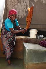 Women at work. Cochin Laundry.