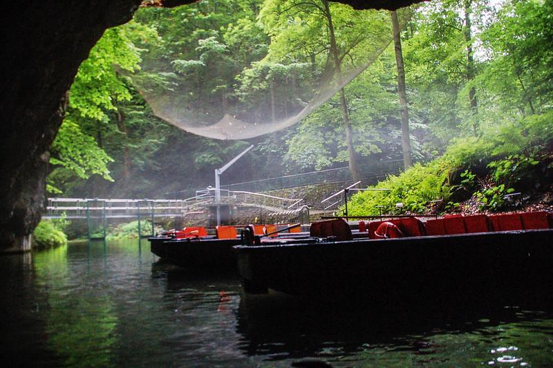 Punkva cave 地底河遊船終點