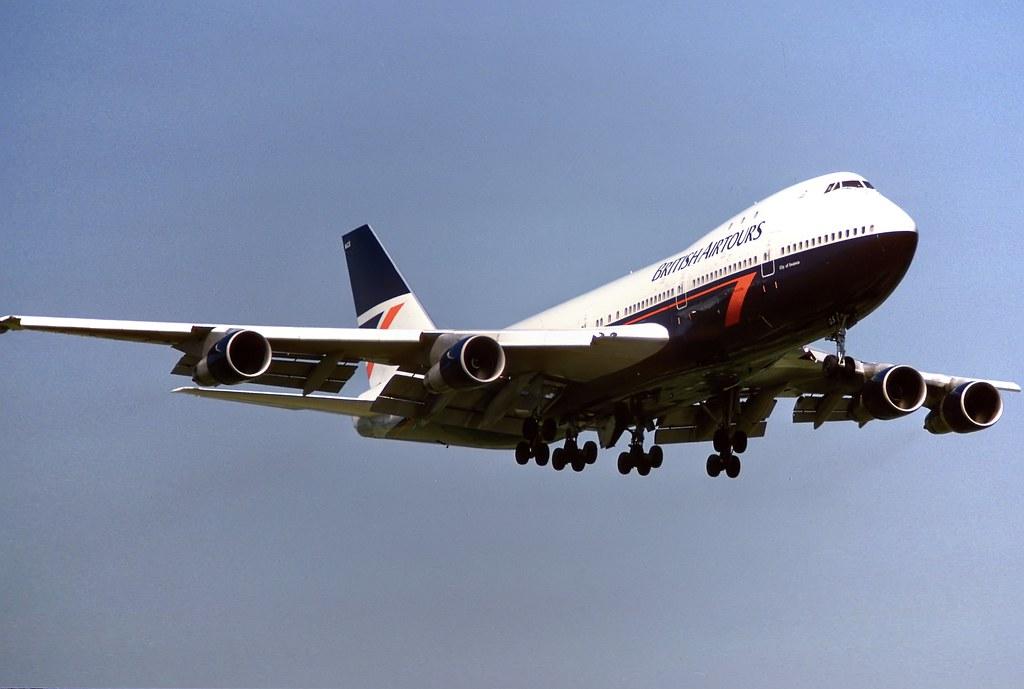 G-BMGS 747-283B British Airtours LGW July 1987