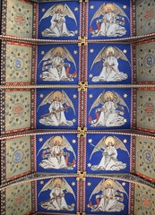 chancel roof (Mildred Holland, 1860s)
