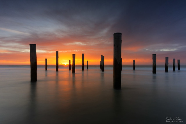 Beach Sunset Scene