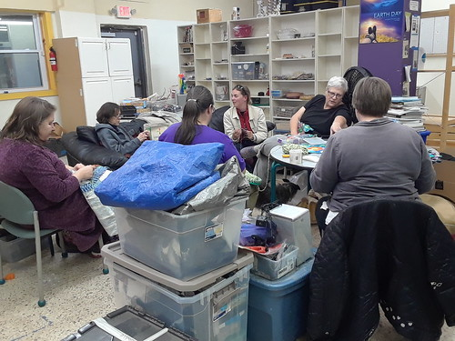 Last Meeting of the Fiber Fans at the Greenbelt Makerspace