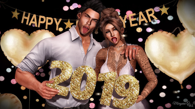 Happy New Year from Morgaine and Harry!!!