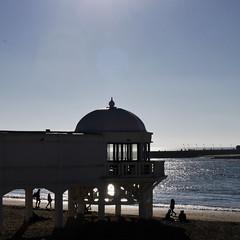 Amanece en La Caleta, Cádiz