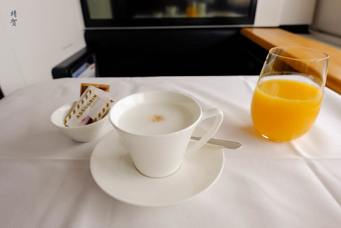 Cappuccino and orange juice | by A. Wee