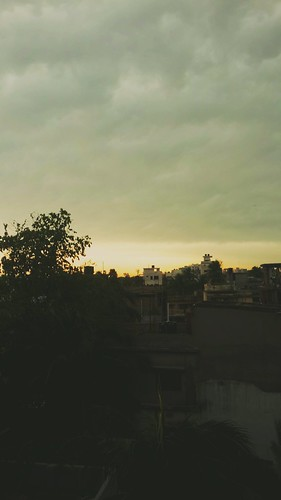 sky clouds sunset bangladesh building city tree orange yellowsky cloudysky
