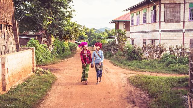 Girls from Pao tribe in Burma.