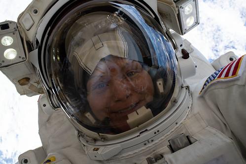 "NASA astronaut Anne McClain takes a ""space-selfie"" | by NASA Johnson"