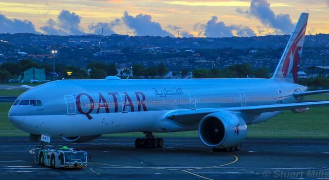 A7-BAK | Qatar Airways | QR963 | DPS - DOH | Boeing 777-3DZ(ER) | Ngurah Rai International Airport | (DPS/WADD)
