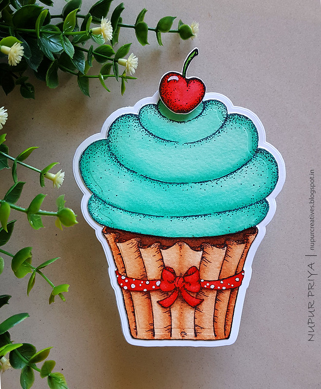 Cupcake Shaped Card_By Nupur Priya_1