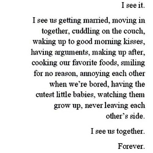 Love quote and saying : I see us together forever   Love quo ...
