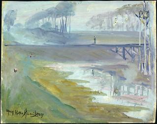 A Misty Morning on the Yser / Matin brumeux sur l'Yser