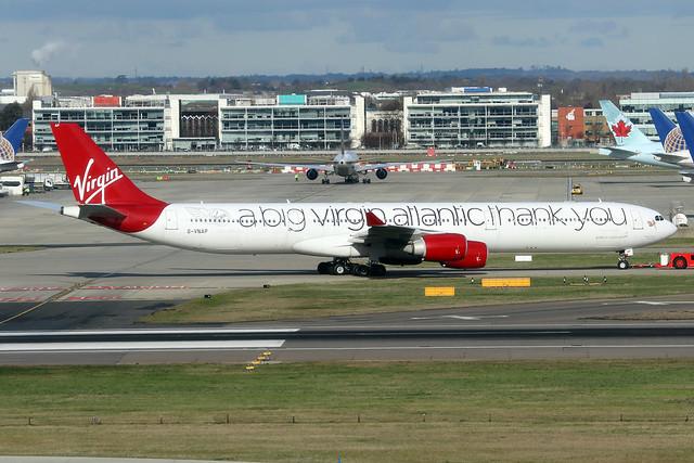 G-VNAP  -  Airbus A340-642  -  Virgin Atlantic  -  LHR/EGLL 11-2-19