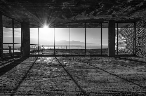 nikon d7200 architectural photography building decay old abandoned bw monochrome attica piraeus greece flickr explored flickrexplore urban sunrise room sunlight shadow balcony windows spiritual center microlimano dilaveri coast sky sun bricks texture morning mood handheld hdr blending