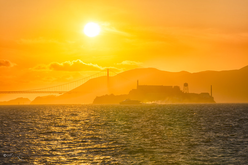 Sunset at Alcatraz