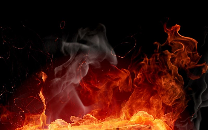Обои огонь, фон, краска, абстракция картинки на рабочий стол, фото скачать бесплатно