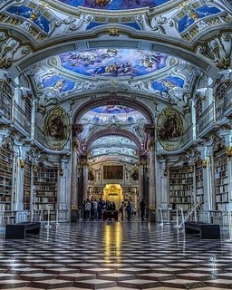 ‪Austria's Monastery library is a gorgeous piece of art and architecture that should be on your bucket list. #Architecture #art‬ . . . #dreamhome #moderndesign #bathroomdecor #modernhome #bathroom #kitchen #homedesign #interiordecor #interiordesign #homed | by mosaics.lab